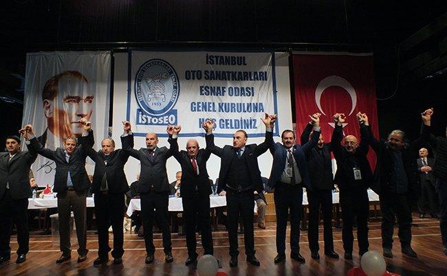 İstanbul Oto Sanatkarları Esnaf Odası (İSTOSEO) Olağan Genel Kurulu'nda mevcut başkan Mustafa Keskin güven tazeleyerek bir kez daha başkan seçildi.